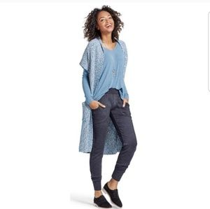 Cabi long open knit cardigan duster vest M